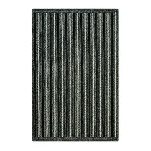 Compare & Buy Daryl Hand-Braided Black Indoor/Outdoor Area Rug By August Grove