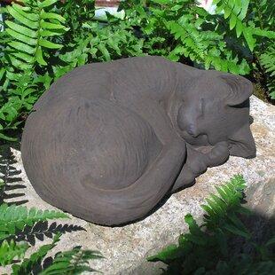 Superieur Curled Cat Statue