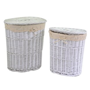 Roberto 2 Piece Wicker Laundry Set By August Grove