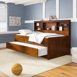 Kaitlyn Daybed Mate's & Captain's with Trundle, Drawers, and shelves by Viv + Rae