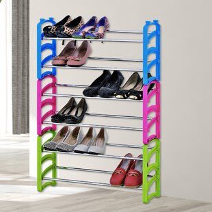 Bargain 6-Tier Stackable Shoe Rack By Rebrilliant