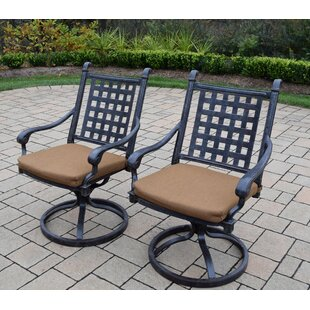 Vandyne Patio Chair with Cushion (Set of 2) by Darby Home Co