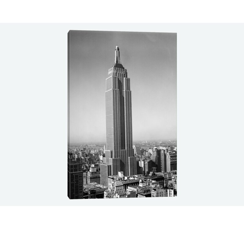 East Urban Home 1930s New York City Empire State Building Full Length Without Antennae Photographic Print On Wrapped Canvas Wayfair