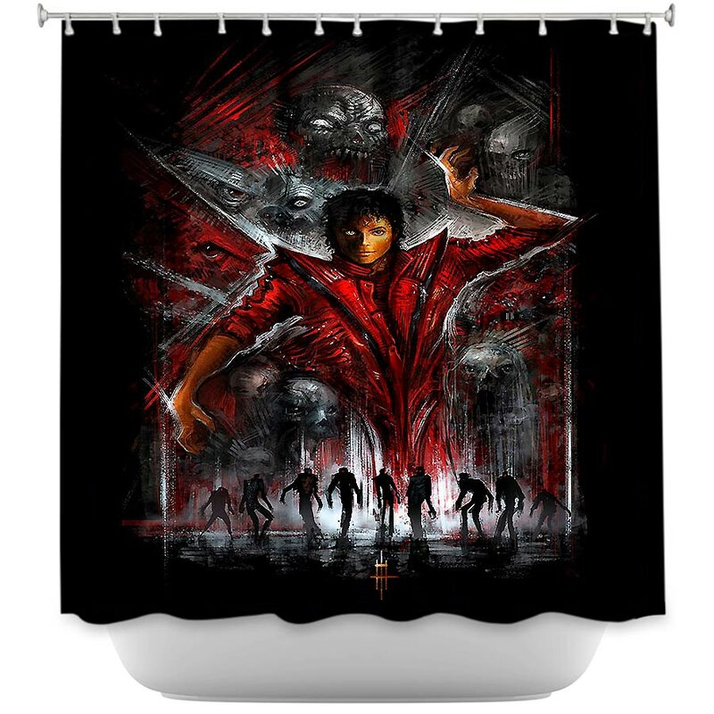 East Urban HomeThriller Michael Jackson Shower Curtain Home Thriller | Wayfair