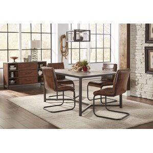 tuscarora genuine leather upholstered dining chair set of 2 - Leather Dining Room Furniture