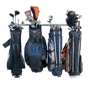 6 Golf Bag Large Wall Mounted Sports Rack