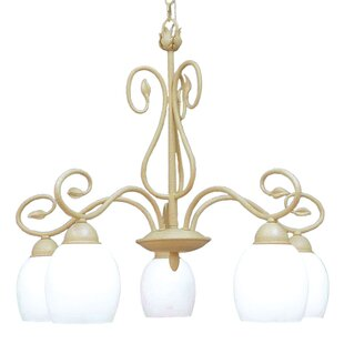 Champlaign 5-Light Shaded Chandelier by Woodbridge Lighting
