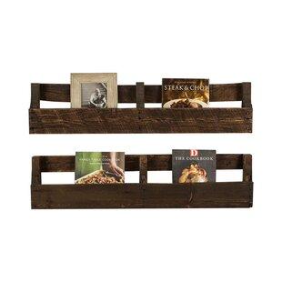 Miah La Plata Pallet Wall Shelf Set Of 2