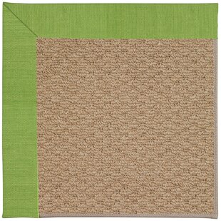 Lisle Machine Tufted Grass/Brown Indoor/Outdoor Area Rug