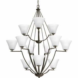 Fleur De Lis Living Karla 12-Light Shaded Chandelier