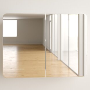 Review Westfall 80cm X 60cm Surface Mount Mirror Cabinet