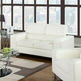 Tatiana Faux Leather 68.13 Wide Square Arm Loveseat by Orren Ellis