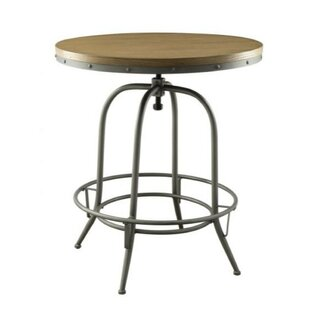 Mccormick Wooden Top Adjustable Pub Table by Williston Forge