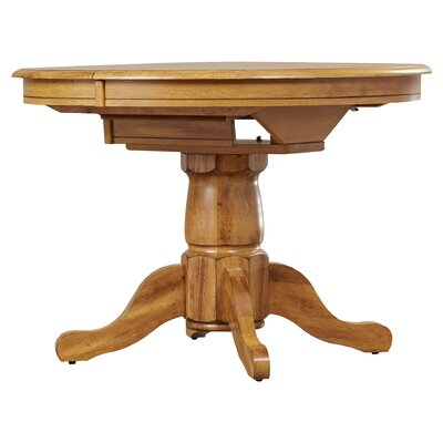 Florentia Extendable Solid Wood Dining Table Color: Solid Oak by Beachcrest Home