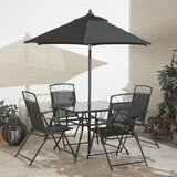 Kroll 6 Piece Dining Set with Umbrella