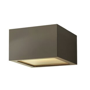 Check Prices Cowan 1-Light LED Outdoor Flush Mount By Orren Ellis