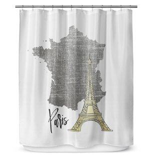 Paris Single Shower Curtain