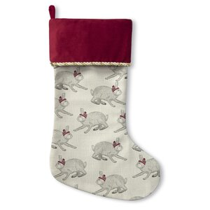Christmas Bunnies Holiday Stocking