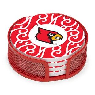 5 Piece University of Louisville Collegiate Coaster Gift Set By Thirstystone