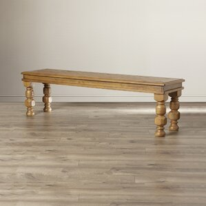 Colletta Wood Bench by Mistana