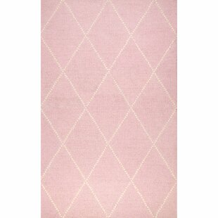 Arrow Hand-Tufted Light Pink/White Area Rug By Harriet Bee