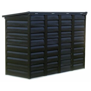 Versa Shed Locking 6 ft. W x 3 ft. D Metal Horizontal Garbage Shed