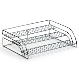 Rebrilliant Tiered Chrome Shelf Organizer