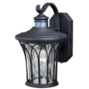 Reviews Hylan Outdoor Wall Lantern with Motion Sensor By Alcott Hill