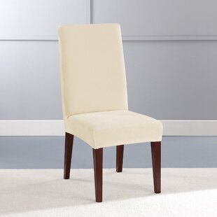Stretch Plush Short Polyester Dining Chair Slipcover