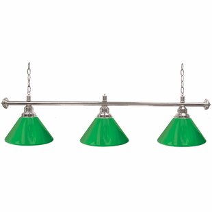 Reviews Premium 3-Light Pool Table Lights Pendant By Trademark Global