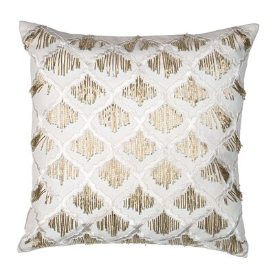 Sivaana Morroccan Trellis with Hanging Beads Pillow Cover