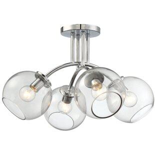 Millbrook 4-Light Semi Flush Mount by Brayden Studio