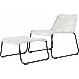 Modloft Barclay Patio Chair and Ottoman