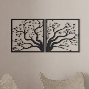 Metal Family Tree Wall Art Wayfairca