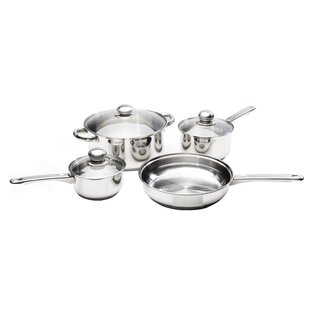 Classicor 7-Piece Stainless Steel Cookware Set with Lids