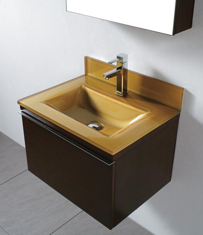 "madeli venasca 24"" single wall mount bathroom vanity set & reviews"