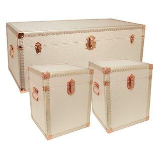 Rosdorf Park Charlesworth 3 Piece Lift Top Coffee Table & Trunk Set (Set of 3)
