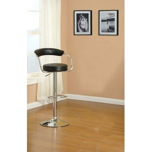 Shortt Short Gas Lift And Round Seat Adjustable Height Bar Stool (Set of 2) Orren Ellis