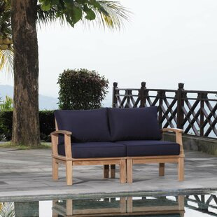 Elaina Outdoor Teak Patio Chair Set with Cushions