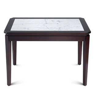 Arie Natural Marble Top Wood Dining Table by Darby Home Co Today Sale Only
