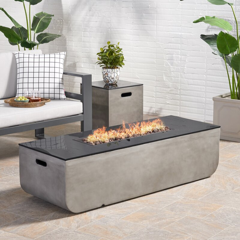 Luvana Outdoor With Tank Holder Concrete Propane Fire Pit ...