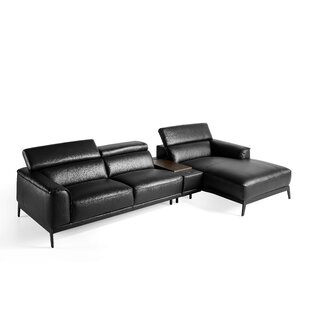 Prindle Leather 3 Sofa By Wade Logan