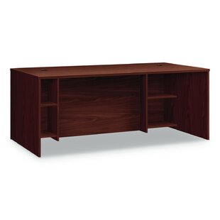 HON Foundation Breakfront Desk Shell, 72w x 36d x 29h, Shaker Cherry