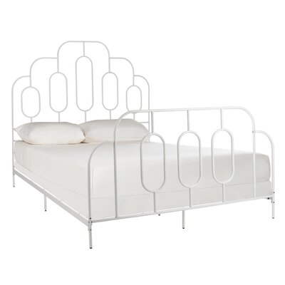 Dillonvale Metal Retro Standard Bed Color: White, Size: Full by Brayden Studio