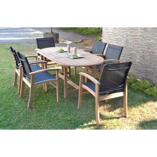 Rosecliff Heights Crawfordville 7 Piece Teak Dining Set