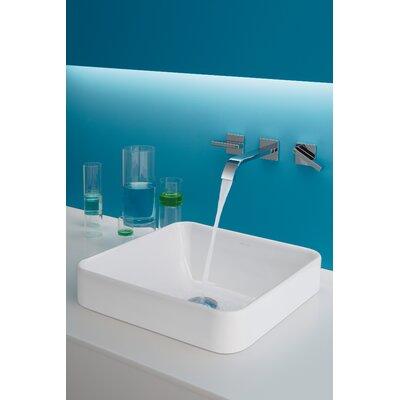 Vox Ceramic Square Vessel Bathroom Sink With Overflow
