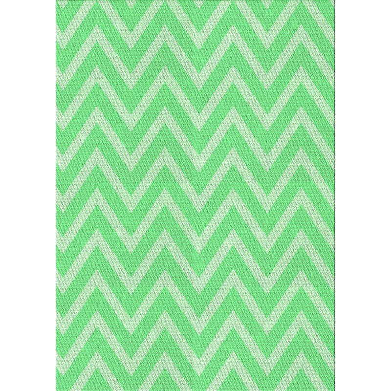 East Urban Home Chevron Green Area Rug Wayfair