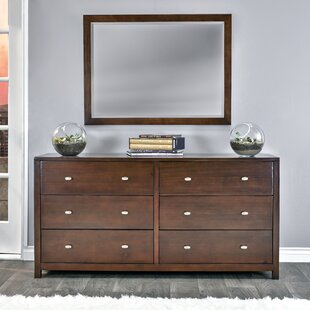 Stowers 6 Drawer Double Dresser with Mirror