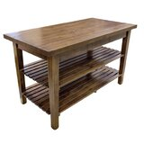 Kitchen Island with Rustic-Edge Top by John Boos
