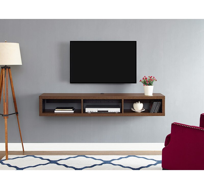 wall mount tv stand Martin Home Furnishings Shallow Wall Mounted TV Stand for TVs up  wall mount tv stand